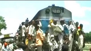 Watch: Dangerous and reckless railway commutation in Uttar Pradesh