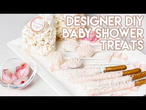 DIY: 4 Easy Designer Baby Shower Treats