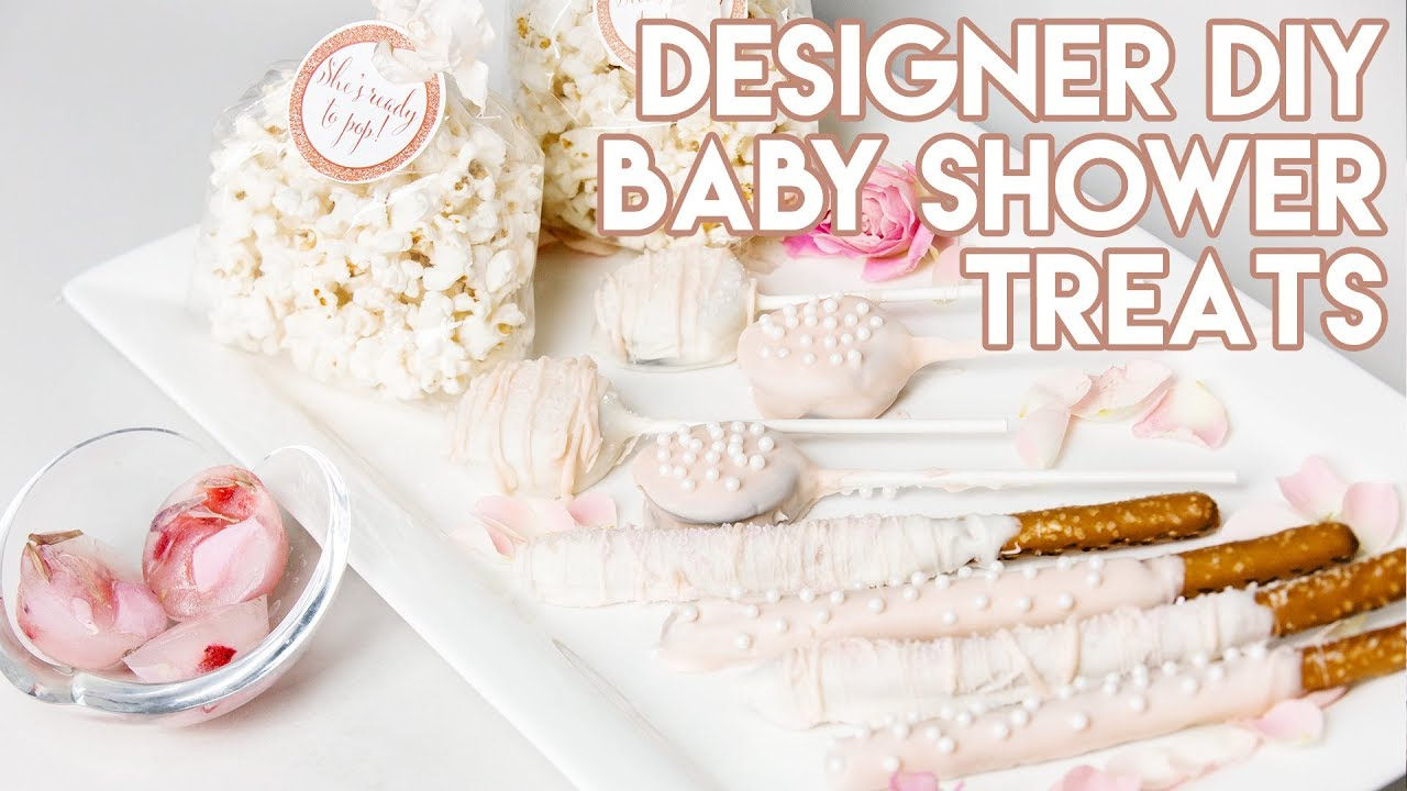 Diy 4 Easy Designer Baby Shower Treats Youtube