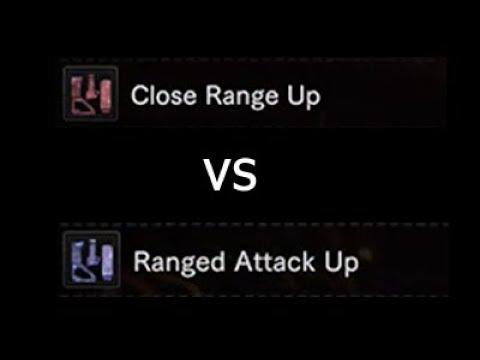 Close Range Up v. Ranged Attack Up Heavy Bow Gun Monster Hunter World