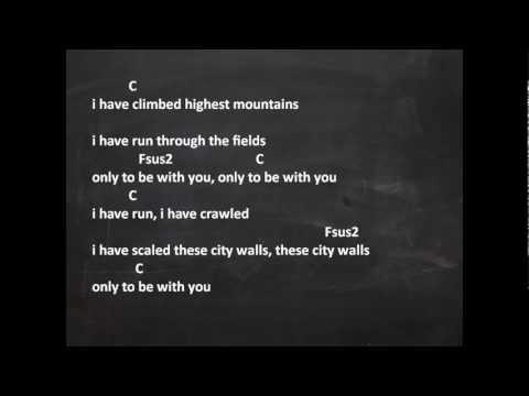 I still haven't found - U2  (Lyrics and Chords)