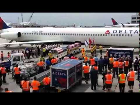 Delta Airlines honors fallen Marines