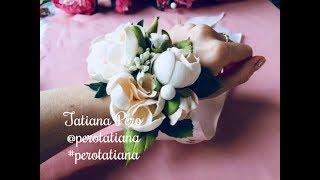 Браслет для подружек невесты, бутоньерка, заколки для прически невесты - сборка - Tatiana Pero