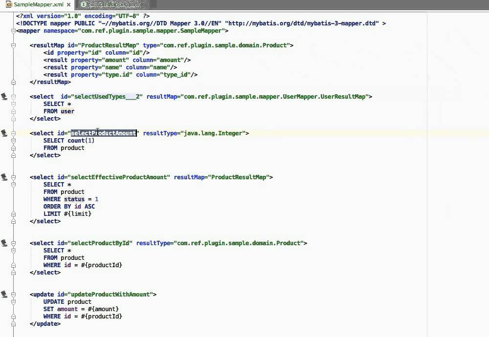 IntelliJ IDEA Mybatis Plugin - Refactor