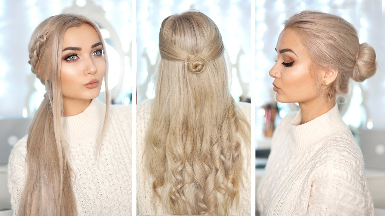 3 cute & easy hairstyles with hair