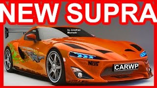 PHOTOSHOP New 2018 Toyota Supra Paul Walker Tribute @ FT-1 Concept #SUPRA