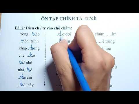 Tiếng Việt lớp 1 - Ôn tập chính tả âm Tr/Ch - Cô Thiên Nga tiểu học