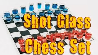 Shot glass chess set with checkers/Drinking chess set review amazon