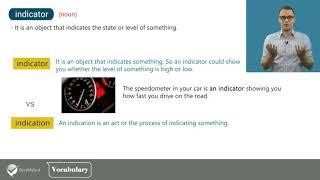 TOEFL Vocabulary: indicate, indication, indicative, indicator
