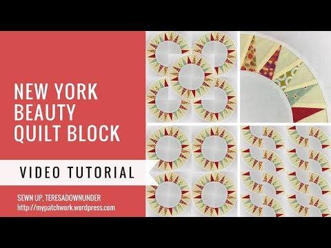 Video tutorial: New York beauty quilt block