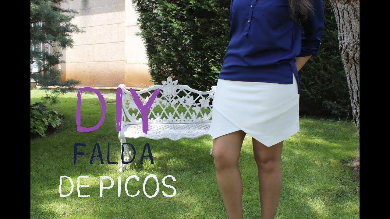 DIY Ropa Cmo hacer falda de picos  YouTube