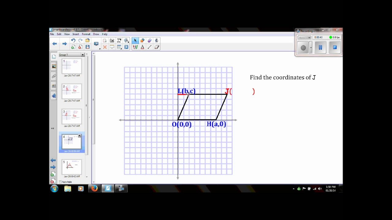 Geometry Lesson 6 8 Geometry In The Coordinate Plane Video
