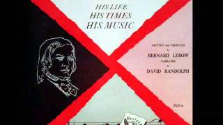 The Life and Times of Robert Schumann: David Randolph, Narrator - 1954