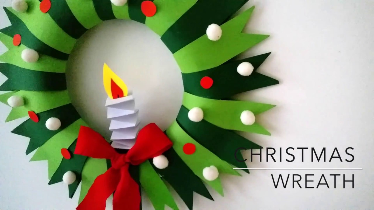 Diy Christmas Wreath Youtube