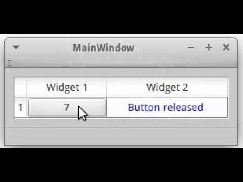 QTableWidget - Example 1