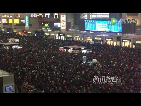 Passengers trapped in Shanghai Railway Station on Feb 1 due to train delays