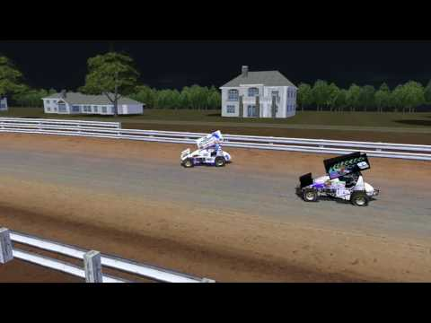 rFactor DWD Sprint Cars at Port Royal Speedway