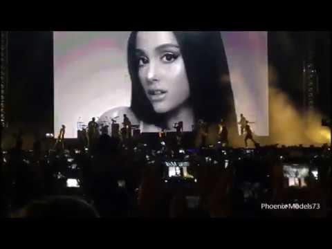 Ariana Grande and The Chainsmokers performences live Singapore Grand Prix