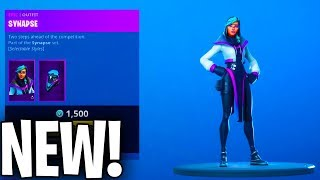 the NEW SYNAPSE SKIN in FORTNITE IS AMAZING.........