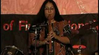 Mary Youngblood performs the Plains-style flute