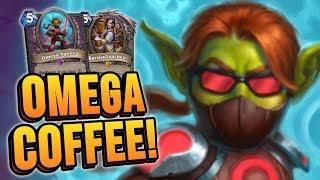 OMEGA COFFEE! Feat. Barista Lynchen & Omega Agent | Rise of Shadows | Hearthstone