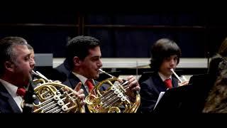 O PAXARO Nelson Quinteiro e Brais González coa Banda de Música Municipal de Valga.