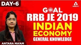 RRB JE | Day 6 | Indian Economy | Antara Ma'am | 1 P.M