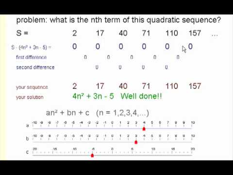 Quadratic and Cubic Sequences (solutions, examples, videos ...