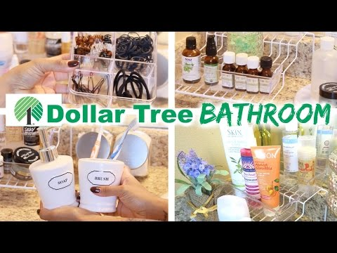 Dollar Tree Bathroom Organization!