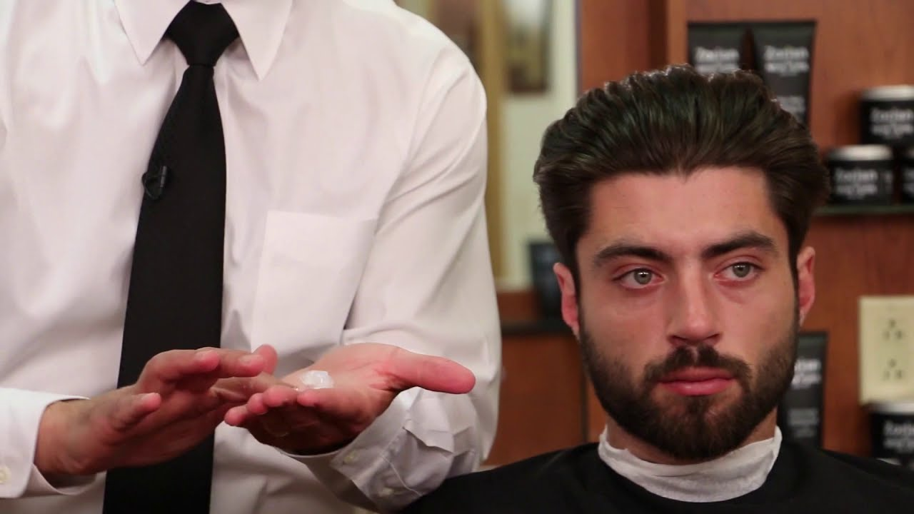 Slicked Back Hair Styled With Gel And Pomade Tutorial