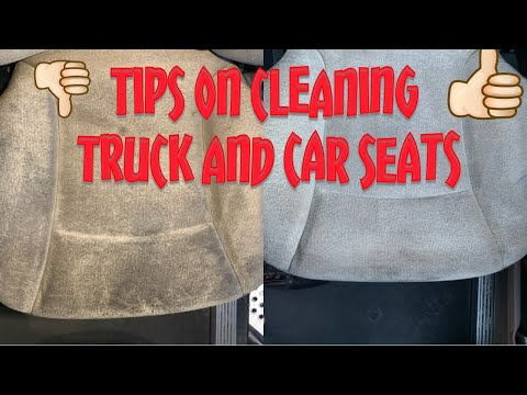 TIPS ON CLEANING TRUCK and CAR SEATS. This is an easy way to clean your seats watch the process