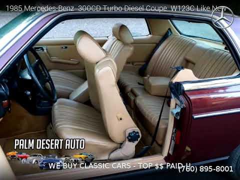 1985 Mercedes-Benz 300CD Turbo Diesel Coupe - Palm Desert Auto Sales