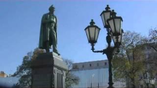 Ожидание. На фоне Пушкина и птичка вылетает...(Видеозарисовка о Пушкинской площади Москвы на песню Булата Окуджавы