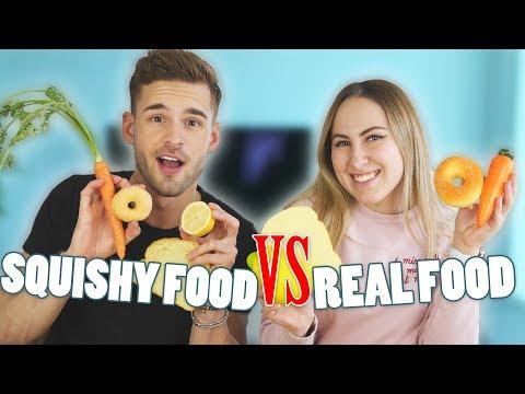 SQUISHY FOOD vs. REAL FOOD - Challenge 😱❤️