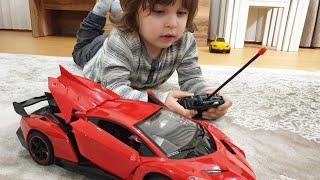 Fatih Selimin kırmızı lamborghini arabasını çocuklar bozmuş ,tamir ettik Şimdi son sürat gidiyor