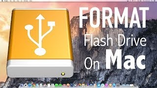 How To Format A Flash Drive/Usb/Pen Drive On Mac OS X!