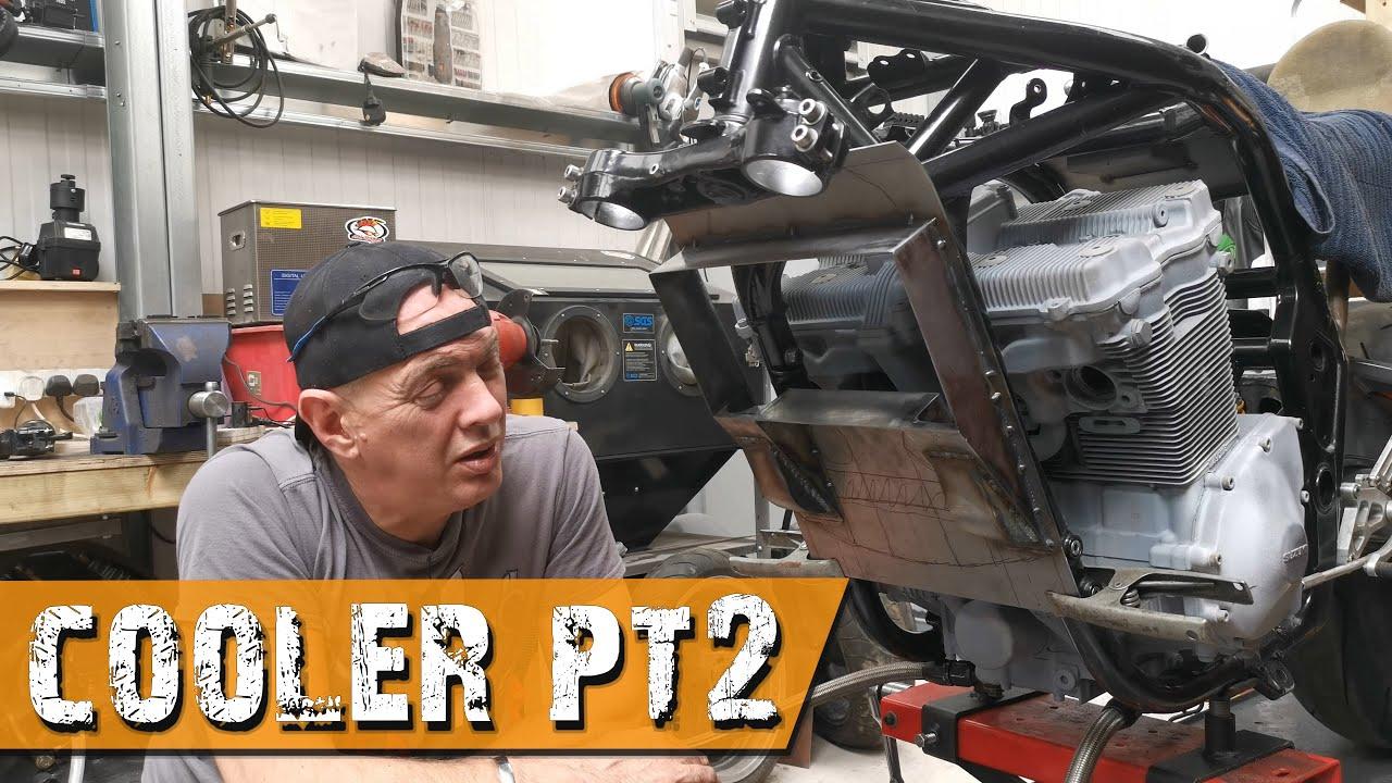 Oil cooler (pt2) - Suzuki Bandit Cafe Racer - GIXIT Project Part 43