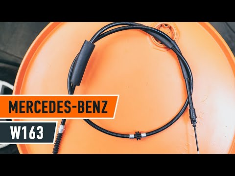 How to replace brake cable on MERCEDES-BENZ M W163 TUTORIAL | AUTODOC