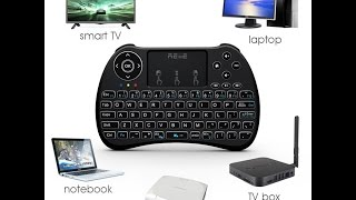 2017 backlit version reiie h9 backlit wireless mini handheld remote keyboard with touchpad review