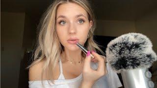 ASMR| Doing My Makeup/ Tingly Close Whisper