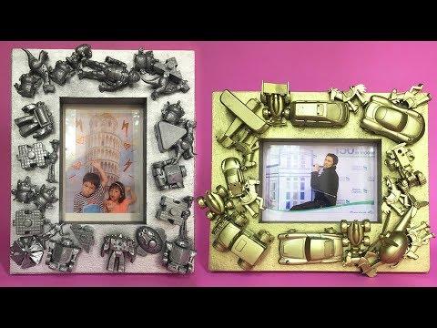 DIY Recycled Toys - Photo Frame || Cara Membuat Bingkai Foto