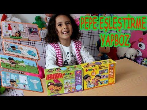 PEPE EŞLEŞTİRME YAPBOZ ETKİNLİĞİ - Eğitici Çocuk Videoları