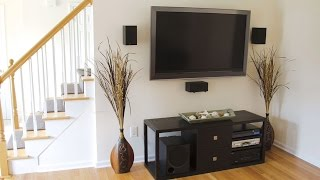 Mounting a Large Screen TV with OmniMount - Designing Spaces
