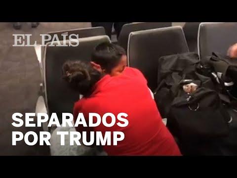 El reencuentro de una madre y un hijo separados en la frontera de EE UU