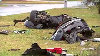 Holden Commodore SS Dramatic Crash In Westmeadows