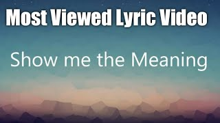 Download Lagu Show me the meaning - Backstreet Boys (Lyrics) mp3