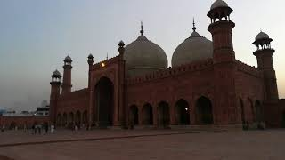 Badshahi Mosque (1673) beautiful adhaan, Lahore, Punjab, Pakistan