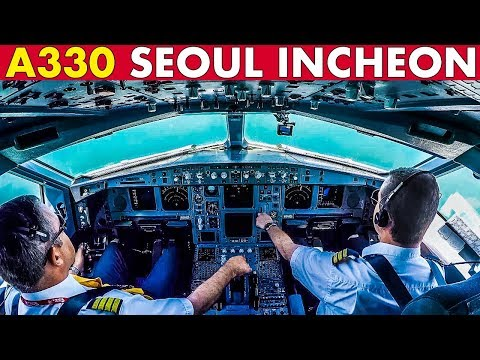 Piloting AIRBUS A330 into Seoul Incheon