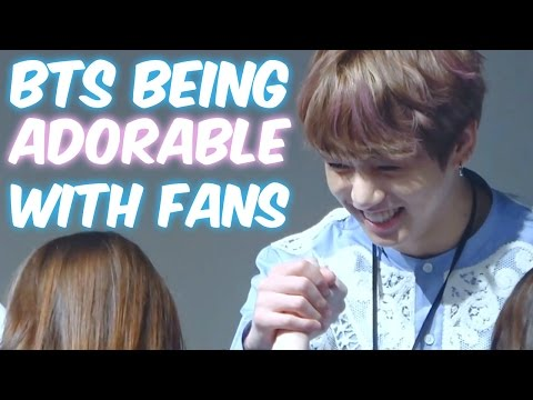 BTS Being Adorable with Fans!   Cute & Funny Moments!