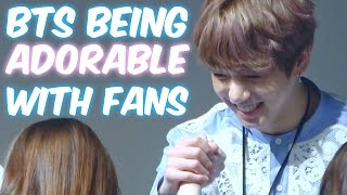 BTS Being Adorable with Fans! | Cute & Funny Moments!